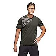 Mens Adidas FreeLift Badge Of Sport Graphic Tee Short Sleeve Technical Tops