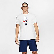 Mens Nike Red, White & Blue Short Sleeve Technical Tops