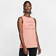 Womens Nike Peace, Love, Swoosh Graphic Sleeveless & Tank Technical Tops