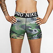 "Womens Nike Pro Rebel 3"" Camo Compression & Fitted Shorts"