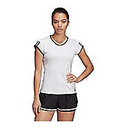 Womens Adidas Club 3-Stripe Tee Short Sleeve Technical Tops
