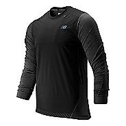 Mens New Balance Q Speed Run Crew Pullover Long Sleeve Technical Tops