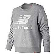 Womens New Balance Essentials Crew Long Sleeve Technical Tops