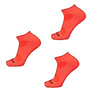 New Balance Flat Knit Nylon No Show Running Socks 3 Pair Pack Socks