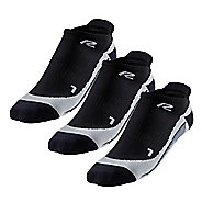R-Gear Super Performance Thin Cushion Compression No Show Tab 3 pack Socks