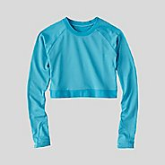 Womens Korsa Vivid Long Sleeve Crop Technical Tops