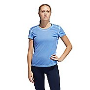 Womens Adidas Own the Run Heathered Tee Short Sleeve Technical Tops