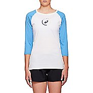 Womens ASICS Cotton 3/4 Tee Long Sleeve Technical Tops