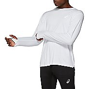Mens ASICS Silver Long Sleeve Technical Tops