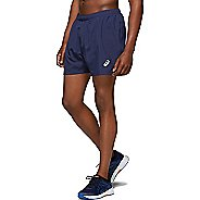 Mens ASICS Silver 5-inch Unlined Shorts
