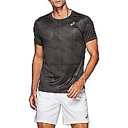 Mens ASICS Club GPX Short Sleeve Technical Tops