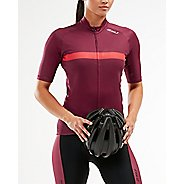 Womens 2XU Elite Cycle Jersey Short Sleeve Technical Tops