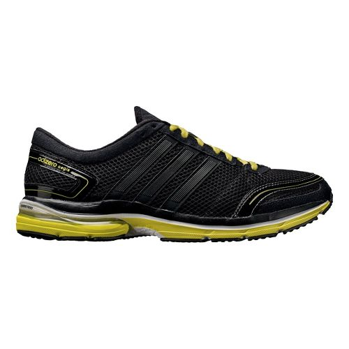Mens adidas adiZero Aegis 2 Running Shoe - Black/Lime 8