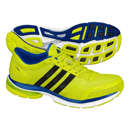 Mens adidas adiZero Aegis 2 Running Shoe - Lime/Black 9.5