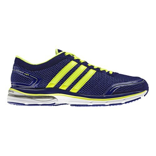 Mens adidas adiZero Aegis 2 Running Shoe - Purple/Lime 10.5