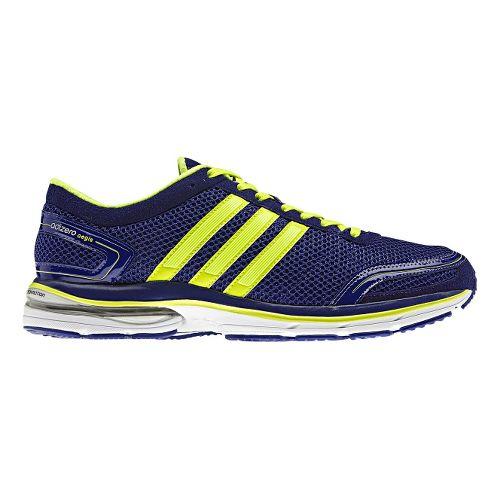 Mens adidas adiZero Aegis 2 Running Shoe - Purple/Lime 11