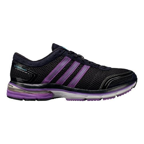 Womens adidas adiZero Aegis 2 Running Shoe - Black/Purple 10