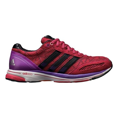 Womens adidas adizero adios 2 Running Shoe - Purple/Rose 7