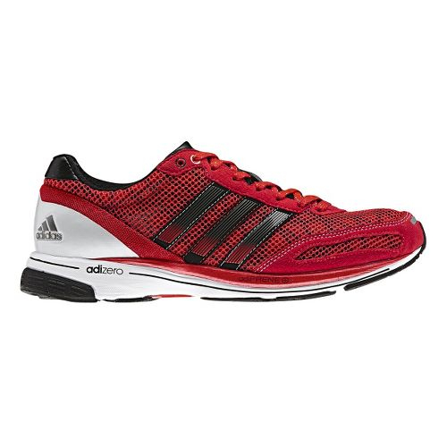 Womens adidas adizero adios 2 Running Shoe - Red/White 8.5