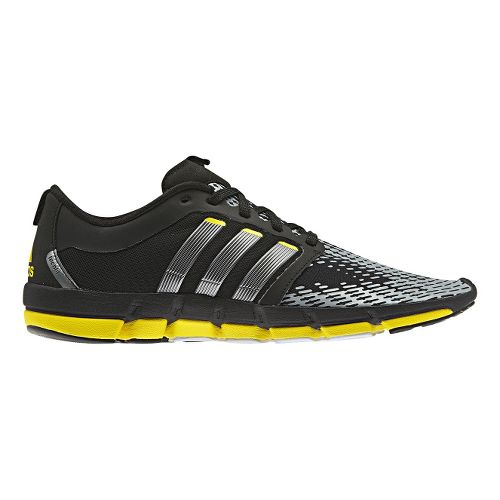 Mens adidas adiPure Motion Running Shoe - Black/Yellow 8.5