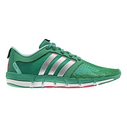 Womens adidas adiPure Motion Running Shoe - Green/Silver 10.5