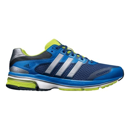 Mens adidas supernova Glide 5 Running Shoe - Blue/Silver 8