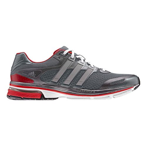 Mens adidas supernova Glide 5 Running Shoe - Grey/Silver 14