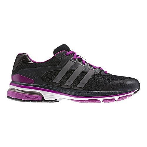 Womens adidas supernova Glide 5 Running Shoe - Black/Purple 7.5