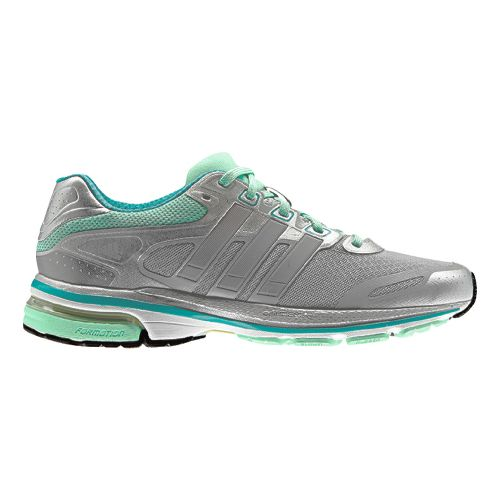 Womens adidas supernova Glide 5 Running Shoe - Grey/Mint 9.5