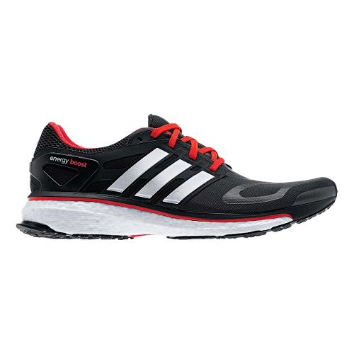 Mens adidas Energy Boost Running Shoe - Black/Red 11.5