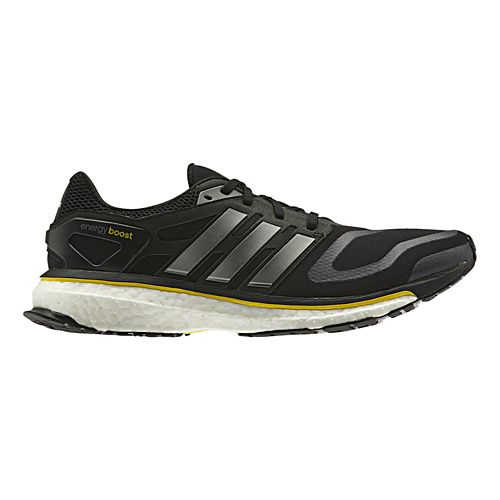 Mens adidas Energy Boost Running Shoe - Black/Silver 12.5
