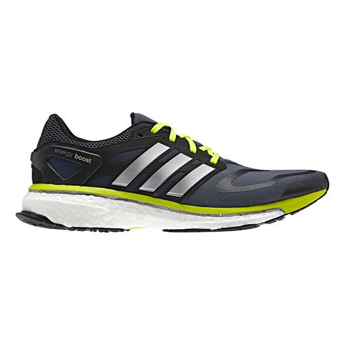 Mens adidas Energy Boost Running Shoe - Navy/Lime 10.5