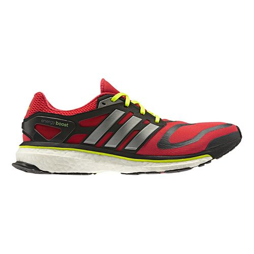 Mens adidas Energy Boost Running Shoe - Red/Silver 9.5
