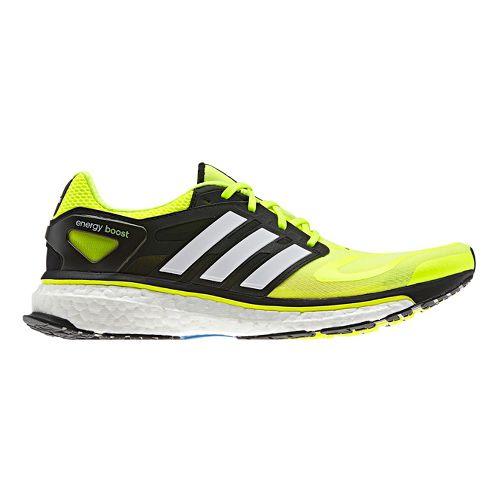 Mens adidas Energy Boost Running Shoe - Yellow/Black 10.5