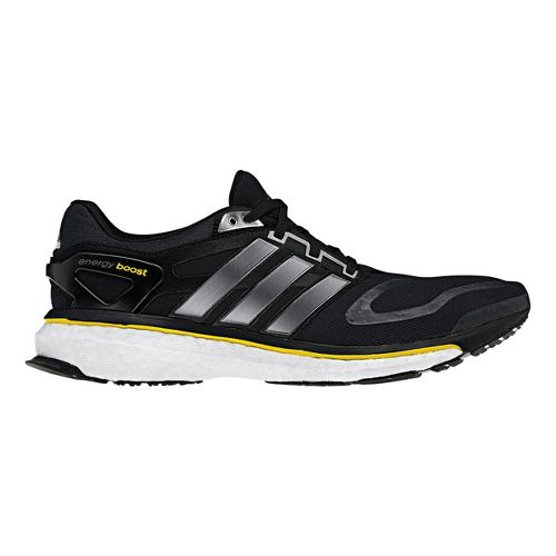 Womens adidas Energy Boost Running Shoe - Black/Silver 9