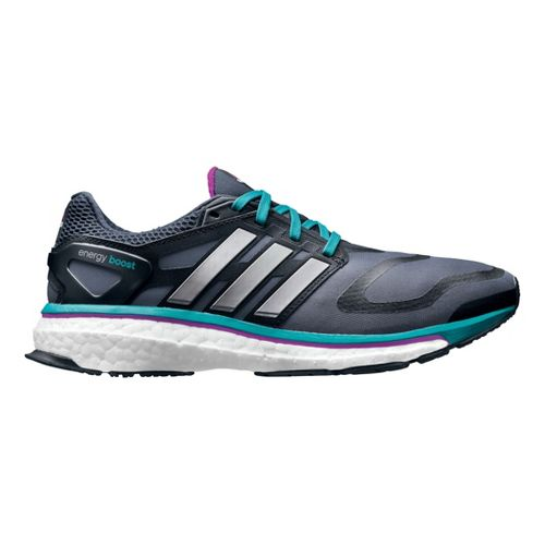 Womens adidas Energy Boost Running Shoe - Grey/Turquoise 10.5