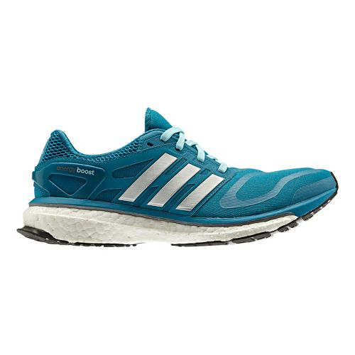 Womens adidas Energy Boost Running Shoe - Teal/Silver 10.5