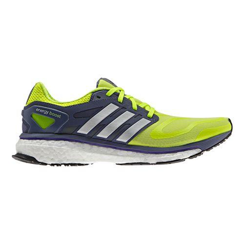 Womens adidas Energy Boost Running Shoe - Yellow/Grey 7.5
