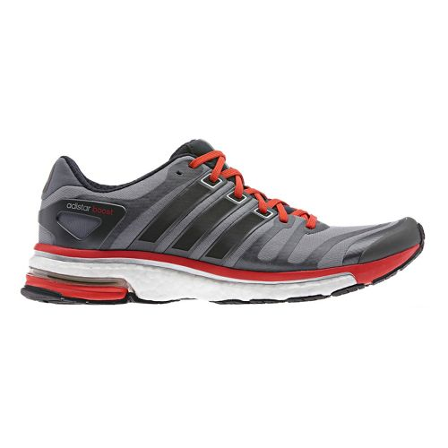 Mens adidas adistar boost Running Shoe - Grey/Red 11