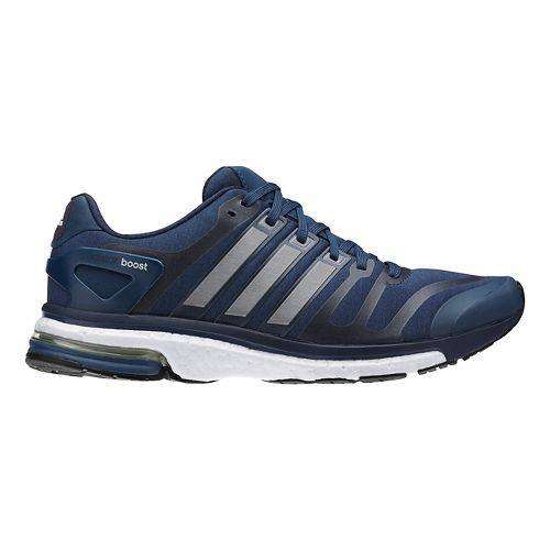 Mens adidas adistar boost Running Shoe - Navy/Silver 8
