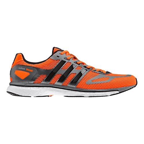 Mens adidas adizero Adios Boost Running Shoe - Bright Orange/Grey 10.5