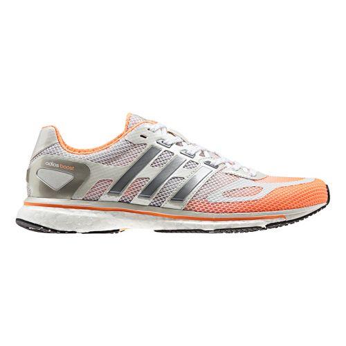 Womens adidas adizero Adios Boost Running Shoe - Orange/White 11
