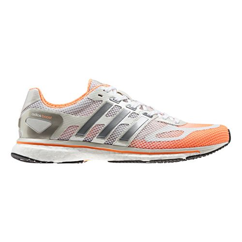 Womens adidas adizero Adios Boost Running Shoe - Orange/White 6