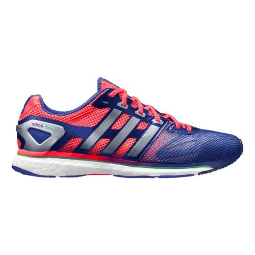 Womens adidas adizero Adios Boost Running Shoe - Purple/Red 8