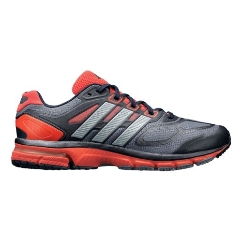 Mens adidas supernova Sequence 6 Running Shoe - Grey/Red 14