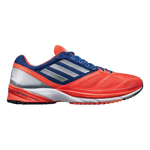 Mens adidas adizero Tempo 6 Running Shoe - Red/Purple 9