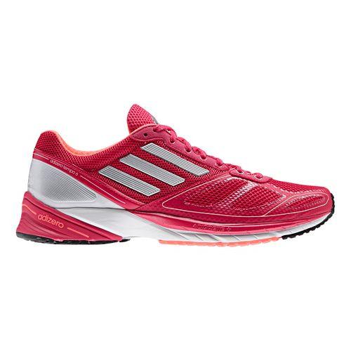 Womens adidas adizero Tempo 6 Running Shoe - Berry/Silver 10.5