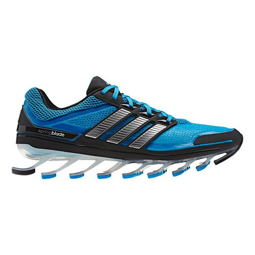Mens adidas springblade Running Shoe - Blue/Silver 8