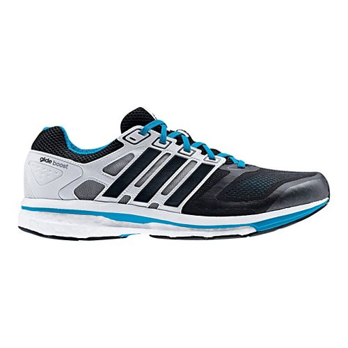 Mens adidas Supernova Glide 6 Boost Running Shoe - Black/White 10