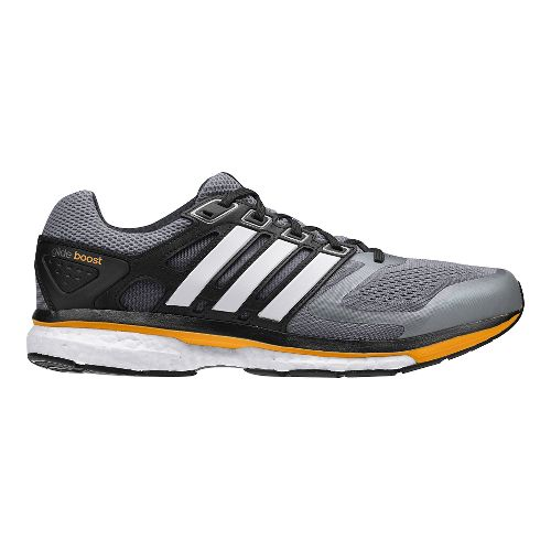 Mens adidas Supernova Glide 6 Boost Running Shoe - Grey/White 9.5